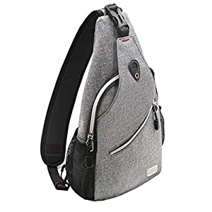MOSISO Sling Bag, Polyester Water Repellent Chest Shoulder Gym Fanny Outdoor Hiking Backpack