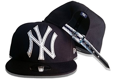 Leather Era New Cap (New Era Mens Pieced Team Snap Leather Strap Snapback 11576181-YANKEES - New York Yankees)