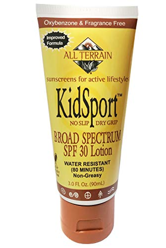 All Terrain KidSport SPF 28-0.6oz, Natural Sunscreen Face Stick, Oxybenzone, Paraben & Chemical Free, Water & Sweat Resistant, UV Protection