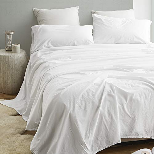 Byourbed 200TC Saudade Portugal Queen Sheet Set - Washed Percale ()
