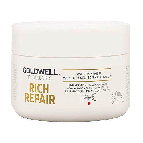 (Goldwell Dual Senses Rich Repair 60Sec Treatment (Regeneration for Damaged Hair) 200ml/6.7oz)