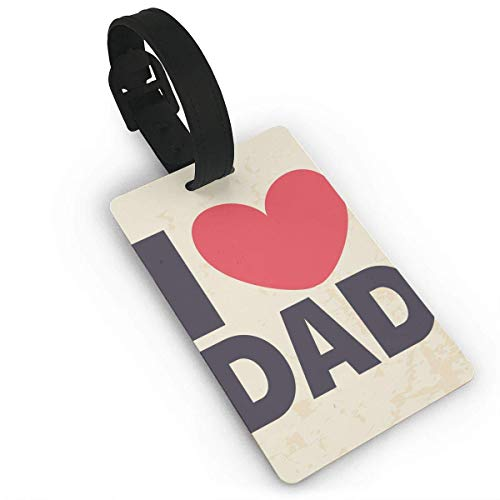 Fibpaecei I Love Daddy Luggage Bag Tags Travel ID Identification Labels Set for Bags & Baggage