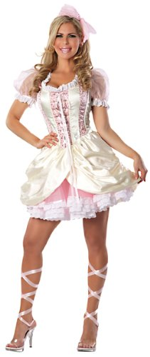 Pink Belle Costumes (Playboy Southern Belle Costume, Butter/Pink, Medium)