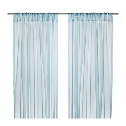 Ikea Teresia Sheer Curtains 2 Panels Turquoise