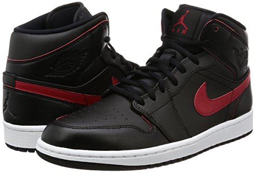 cheap browse cheap sale with credit card Nike Men's Air Jordan 1 Mid Basketball Shoe Black / Team Red-team Red cheap factory outlet free shipping 2014 newest newest cheap online rWldoI