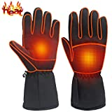 Heated Gloves Rechargeable Electric Battery Heat Gloves,Sports Outdoor Battery Powered Heating Gloves Climbing Hiking Hunting Camping Handwarmer,Winter Novelty Warm Thermal Heated Gloves