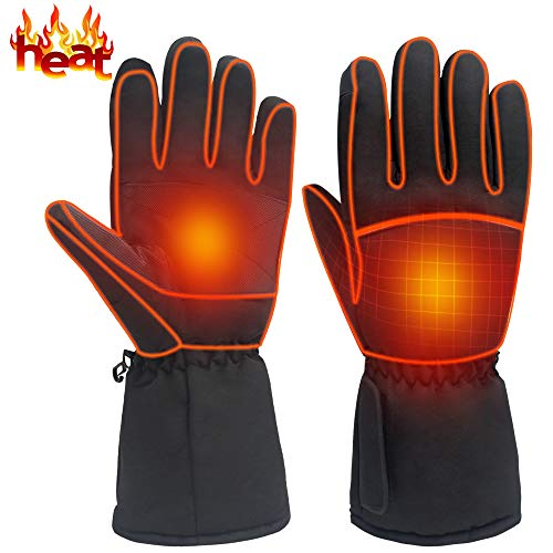 Heated Gloves Rechargeable Electric Battery Heat Gloves,Sports Outdoor Battery Powered Heating Gloves Climbing Hiking Hunting Camping Handwarmer,Winter Novelty Warm Thermal Heated Gloves by HEAT WARMER