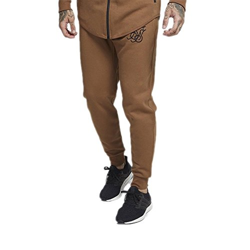 Pantaloni Siksilk – Interlock Poly Tricot Jogger marrone/nero formato: XL (X-Large)