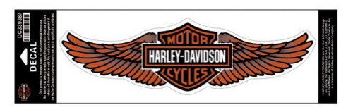 Harley Davidson Wings - Harley-Davidson Straight Wing Decal Orange 3XL Size Sticker DC339387