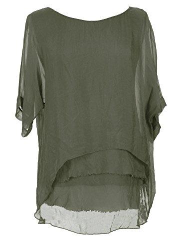 TEXTUREONLINE - Camisas - Básico - para mujer caqui