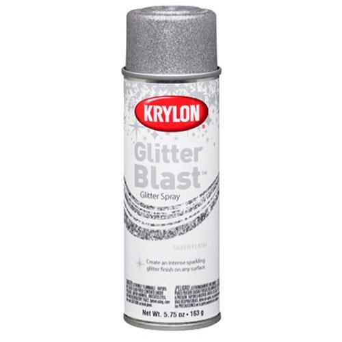 Price comparison product image Krylon K03802A00 Glitter Blast, Silver Flash, 5.75 Ounce