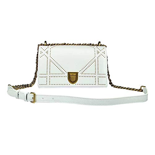 (Womens Lambskin Diorama Studded Bag Classic Handbag)