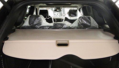 Icegirl Interior Rear Trunk Cargo Cover Security Shield For Jeep Grand Cherokee 2011 2012 2013 2014 2015 (Beige)
