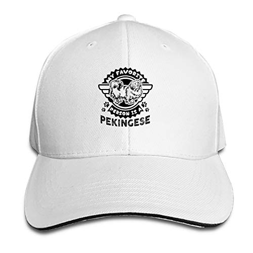 SEVTNY My Favorite Person is A Pekingese Baseball Cap Dad Hat Low Profile Adjustable for Men Women