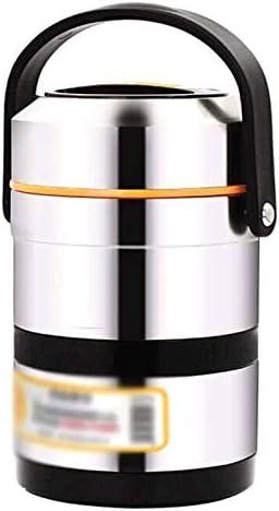大人キッズベビーステンレスランチボックス真空フードジャー用絶縁食品容器スープ魔法瓶 (Size : 2L)