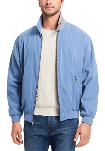 (Weatherproof Garment Co. Mens Microfiber Golf Jacket, Capri Blue, X-Large)