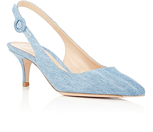 EDEFS - Zapatos con correa de tobillo Mujer Denim