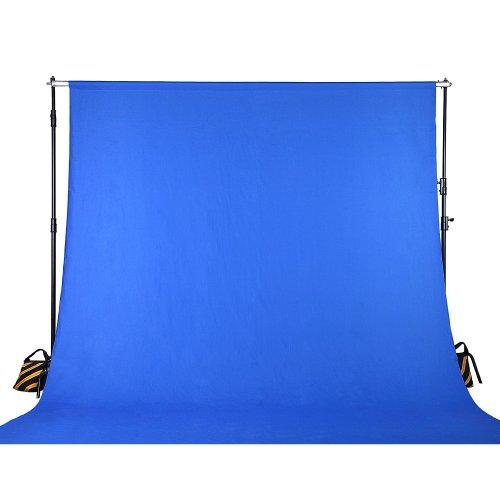 Square Perfect 8018 10 x 20 Feet Chromakey Blue Screen Muslin Photo/Video Backdrop Background Studio