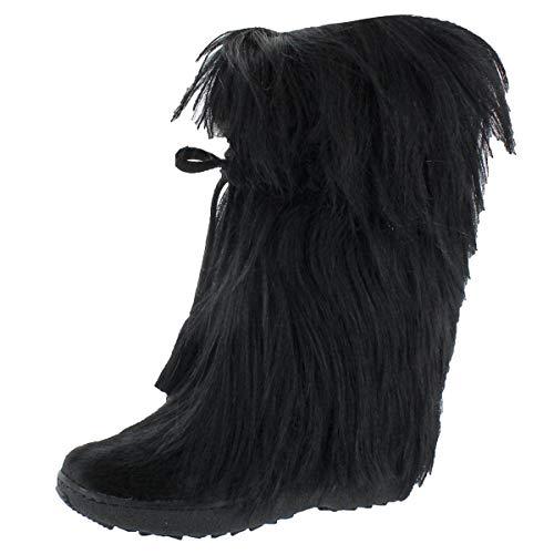 t Tassle Tie Goat Hair Boot,Black,38 EU / 7-7.5 B(M) ()