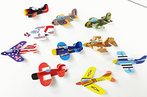 GIFTEXPRESS 72 pcs Foam Gliders Mix/Glider Planes/Foam Airplane Gliders perfect for aviation themed Party/Pinata Stuffing/Reward Box/Party Favor/Goody Bags/Party Give Away/Halloween - Pinata Party Favor Mini