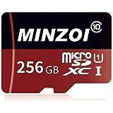 MINZOI 256GB Micro SD SDXC Card High Speed Class 10 Memory Card With SD Adapter