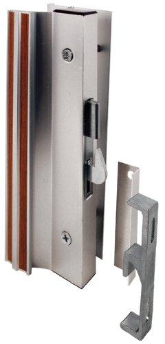 Prime-Line Products C 1000 Sliding Glass Door Handle Lock, Hook Style, Surface Mount, Aluminum