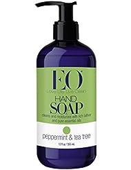 EO Botanical Liquid Hand Soap, Peppermint & Tea Tree, 12 Ounce (Pack of 3)