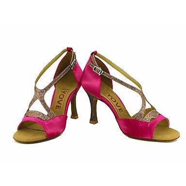 XIAMUO Anpassbare Frauen Beruf Tanz Schuhe, Lila, UNS 6,5-7/EU 37/ UK 4,5-5/CN 37
