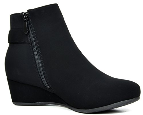 DREAM-PAIRS-Womens-Low-Wedge-Heel-Ankle-Booties