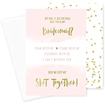 amazon com will you be my bridesmaid cards 6 pack i can t