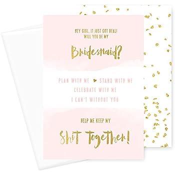 amazon com 12 pack bridesmaid cards bridesmaid proposal set for