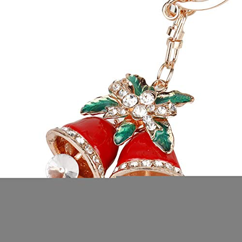 Slendima Lovely Rhinestone Cartoon Christmas Tree Santa Claus Keychain Car Key Chain Ring Festival Decor 7# -