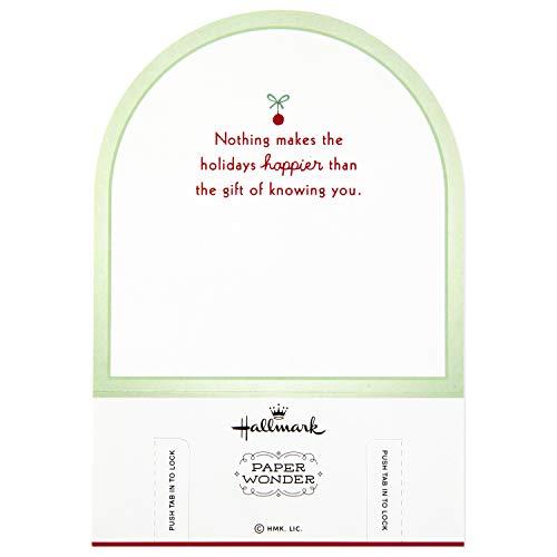 Hallmark Paper Wonder Pop Up Christmas Card Snow Globe (Woodland Creatures) Photo #3