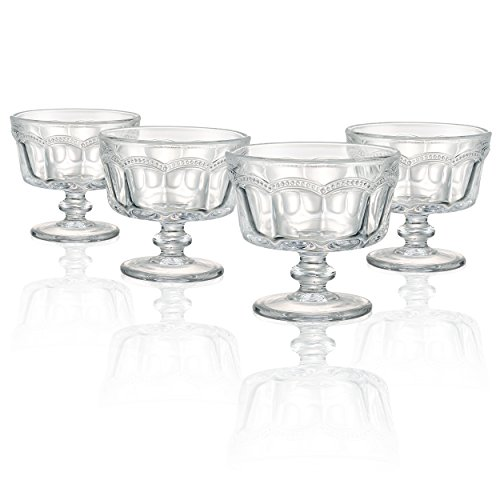 Artland 30005A Pearl Ridge Mini Coupe Dish (Set of 4), Glass