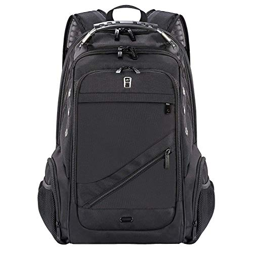 Laptop Backpack, Business Anti-Theft Travel Backpack with USB Charging Headphone Port, Water Resistant Large Compartment College School Computer Bag (Black-GZ)