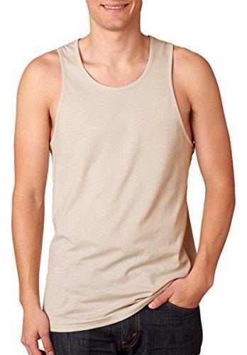 Next Level NL3633 100% Cotton Men's Jersey Tank - Sand 3633 XL by Next Level Apparel