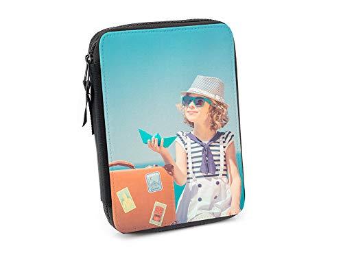 Regalo Original Estuche Escolar Infantil para la Vuelta al Cole Personalizado con tu Foto o Texto con Compartimentos… 2