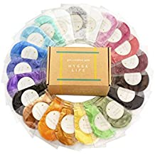 [21 Colorant Packs 10g/0.35oz Each] 210g of Cosmetic Grade Natural Mica Powder Pigment Set for Bath Bomb, Soap, Epoxy Resin, and Slime Making - Non Toxic Pearl Color Dyes for Make-up and Nail Art