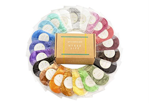 [21 Colorant Packs 10g/0.35oz Each] 210g of Cosmetic Grade Natural Mica Powder Pigment Set for Bath Bomb, Soap, Epoxy Resin, and Slime Making - Non Toxic Pearl Color Dyes for Make-up and Nail Art by Hygge Life
