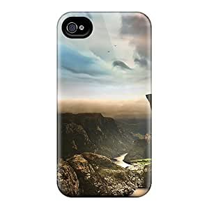 Hot Fashion XxJTsYL5736haQos Design Case Cover For Iphone 4/4s Protective Case (edge Of The World Norway)