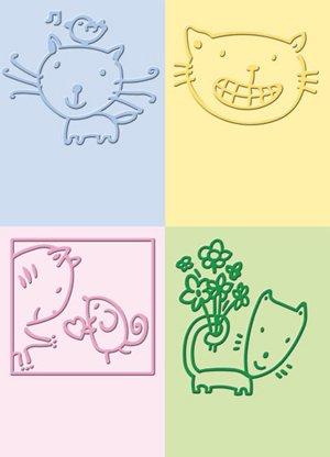 (Provo Craft Cuttlebug 2-Inch-by-2.75-Inch Embossing Folder Set, Cat, 4)