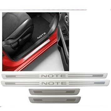 Nissan Note E12 aluminio cepillado aspecto umbral de la puerta Guardias de pantalla x4 ke9673vv00: Amazon.es: Coche y moto