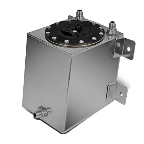 1-Gallon/3.75 Liter Aluminum Racing Bottom Feed Fuel Cell Gas Tank w/Cap ()