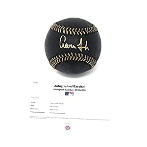 Aaron Judge New York Yankees Signed Autograph Official Black MLB Baseball MLB Authentic Certified