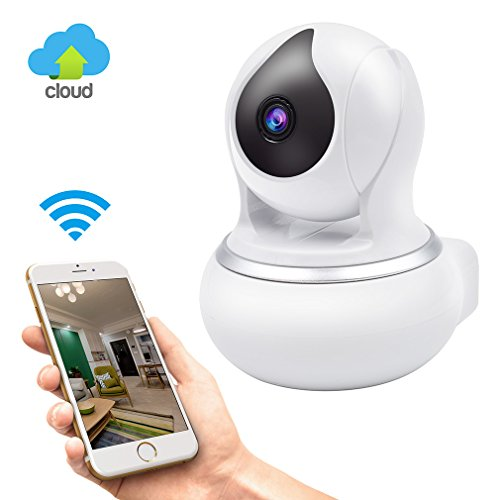 Wireless GERI IP Security Camera WIFI Surveillance indoor camera baby room vision Pan/Tilt/Zoom System 720p HD Night Vision Cloud Service (360 Ptz Dome Type)