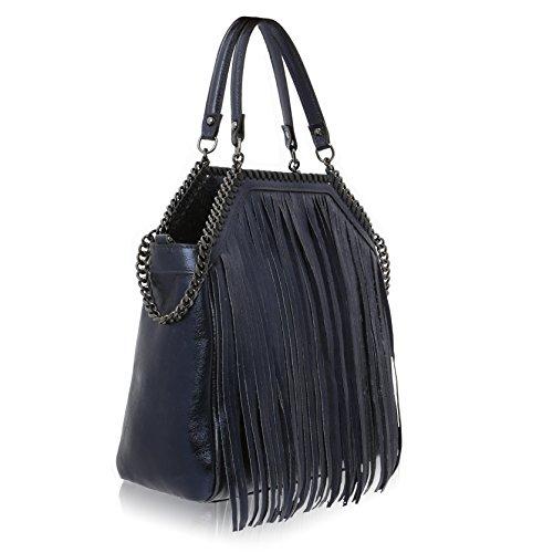 Pour Florence Marine À Made 35 31 Bleu Femme Cm Main 14 Cuir Sac In Véritable 6wETZYwx