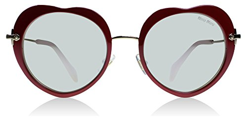 Miu Miu Women's Heart Mirrored Sunglasses, Red/Silver, One - Heart Designer Sunglasses