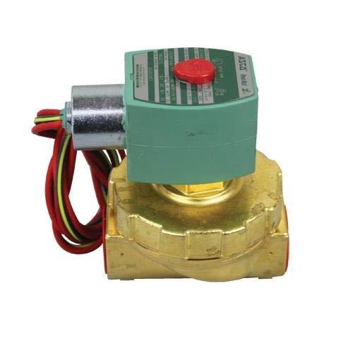 ASCO 8220G407 -24/60 Brass Body Hot Water and Steam Pilot Operated Diaphragm and Piston Valve, 50 psi Maximum Steam Operating Pressure, 3/4'' Pipe Size, 2-Way Normally Closed, EPDM/PTFE Sealing, 3/4'' Orifice, 8.8 Cv Flow, 24V/60 Hz