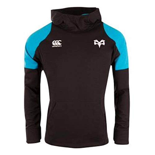 Canterbury 2018-2019 Ospreys Rugby Vaposhield ハイブリッドパーカー(ブラック)