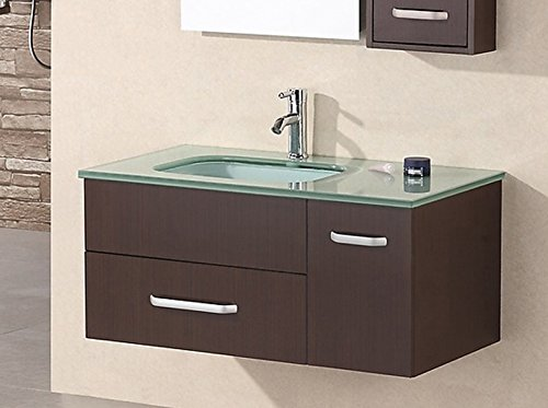 Design Element Christine Wall-Mount Single Sink Vanity Set, 35-Inch by Design Element